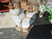 Vintage Industrial Salvage Grainery 'y' Section, Double Planter, Garden Art