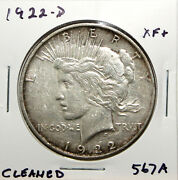 1922-d Us Peace Silver Dollar 1 Xf Ef Extremely Fine Details 567a