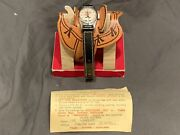 1950s Hopalong Cassidy Wrist Watch All Original In Saddle Box With Paperwork
