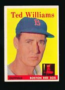1958 Topps Ted Williams 1 Vg/ex+