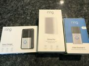 Ring Video Doorbell 3 With Solar Charger And Chime Pro
