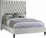 Modern Bedroom Furniture Set Deep Button Tufting Brass Nailhead Full Size Bed