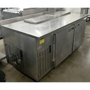 Wasserstrom Prep Table 72 X 36 X 36 Holds 16 1/6 Pans 8-1/2 Deep Well