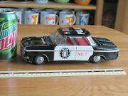 Corvair Friction Tin Toy Car Police 10 Long Vintage