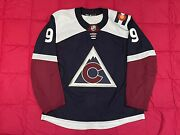 Colorado Avalanche 3rd Alternate Game Issued Pro Stock Adidas Mic Jersey No Worn