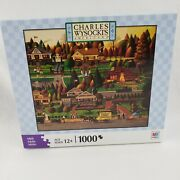 Charles Wysocki Puzzles 1000 Pieces Labor Day In Bungalowville 2008 Brand New