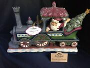 Jim Shore Delivering A Merry Christmas Victorian Santa In Train Engine New