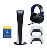 Playstation 5 Digitalandnbspedition Console - Two Controllers - 1 Year Plus - Headset