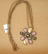 Chicoand039s Long Antique Gold Necklace With Beautiful Pendant