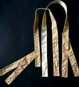 Civil War Suspenders Gold Red Floral Cotton Hand Sewn Union Confederate Soldier
