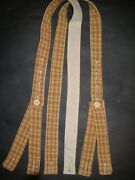 Civil War Suspenders Gold Red Brown Sewn On Period Hand Crank Sewing Machine