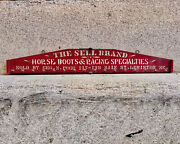Antique Trade Sign Rack Sell Brand Horse Racing Boots Lewiston Maine Geo Fogg