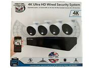 Night Owl 4k Ultra Hd Wired Security System 4 Cameras 12 Channel Dvr 1tb Drive