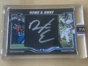 2020 Panini Home And Away Nfl Darrynton Evans Rookie On Card Auto Black True 1/1
