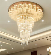 European Dimmable Led Crystal Chandelier Living Room Stairs Fixture Lamp Light
