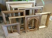 Vintage Gold Ornate Picture Frame Decor Gallery Wall Lot Of 7 Shabby Chic Art