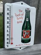 Vintage Style 7up Pepsi Soda Pop Porcelain Thermometer Sign