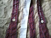 Civil War Suspenders Red Blue Cotton Tall Hand Sewn Union Confederate Soldier