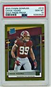 2020 Panini Donruss Chase Young Gold Press Proof 316 Psa 10 50/50 Rated Rookie