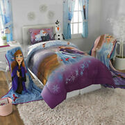 2-piece Frozen 2 Ana Olaf And Elsa Comforter And Sham Set Kids Bedding Twin/full