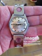 Rare Early 1960s Tissot Rally Racing Watch In Silver And Mint Condition