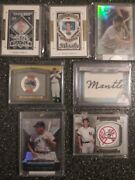 Mickey Mantle Lot Patch Medallion Die Cut And Etopps Collection