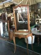 French Console/hall Piece W/beveled Mirror C. 1875 1296