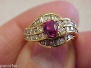Highest Quality 18k Ruby And Diamond Ring Size 5.5 Make Offer