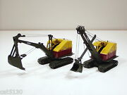 Both 2 Bucyrus Erie 22b Cable Excavator And Shovel -1/50 - Emd T001 And T002