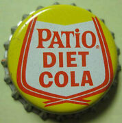 Patio Diet Cola Cork-lined Soda Crown, Bottle Cap, By Pepsi-cola, About 1963