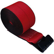 10 Red 4 X 30and039 Winch Straps Flat Hook Flatbed Truck Trailer Tie Down Strap Fh