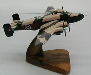 Hp-57 Handley Page Halifax Plane Wood Model Replica Large Free Shipping