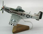 North American P-51 Mustang Fighter Plane Wood Model Large Free Shipping