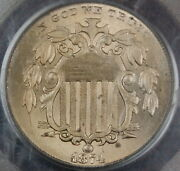 1874 Shield Nickel Coin Pcgs Ms-64 Better Coin
