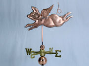 Copper Flying Pig Weathervane Made In Usa 111