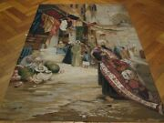Fine Quality 4x6 Antique Look Tapestry Wall Hanging Rug