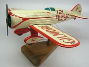 Gilmore Red Lion Racer Airplane Wood Model Replica Large Free Shipping