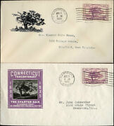 772-nip 2 Different Hartford Conn. First Day Cover Cachet Bn286