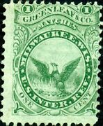 Ro100a Greenleaf And Co. Matches Stamp Used On Old Paper Bn3841