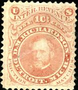 Ro154a D.m. Richardson Matches Stamp Used On Old Paper Bn3975