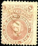 Ro154a D.m. Richardson Matches Stamp Used On Old Paper Bn3976