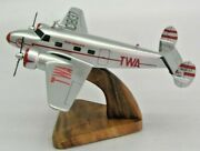 12a Electra Twa L12a Airplane Wood Model Replica Large Free Shipping