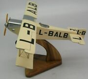 Aero A.10 Biplane Czech Airlines Airplane Wood Model Replica Large Free Shipping