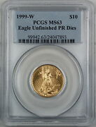 1999-w 10 American Gold Eagle Pcgs Ms-63 Emergency Issue Better Coin