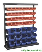 Sealey Tools Tps47 Parts Storage Container System 47 Plastic Bins Steel Racking
