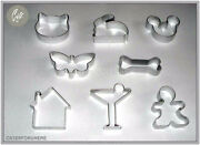 Biscuit Cutter House Cat Rabbit Mouse Dog Bone Cocktail Butterfly Cake Cupcake