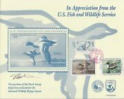 Jd3 1995-1996 Junior Duck Stamps On Fdc Card Rare Hv1113