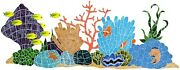 Ceramic Mosaic Ocean Reef Scene For Swimming Pool Or Wall 5and039x2and039 - Free Shipping
