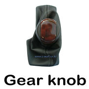 At Wood Leather Gear Shift Knob 1p For 12 Chevy Alpeon