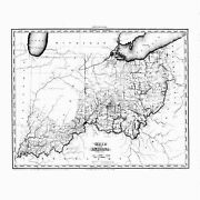 1819 Ohio Map Oh Cleves Coal Grove Covington Crooksville Mcconnelsville History